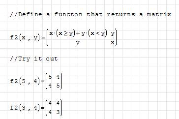 funny matrix function